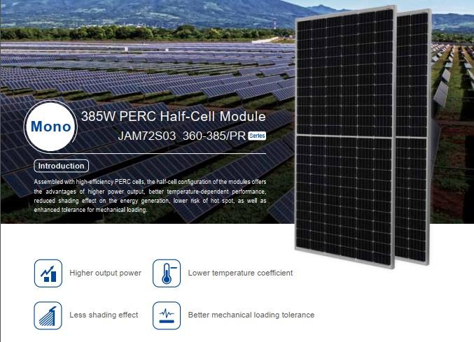 Tấm pin mặt trời Ja solar 445W công nghệ mới